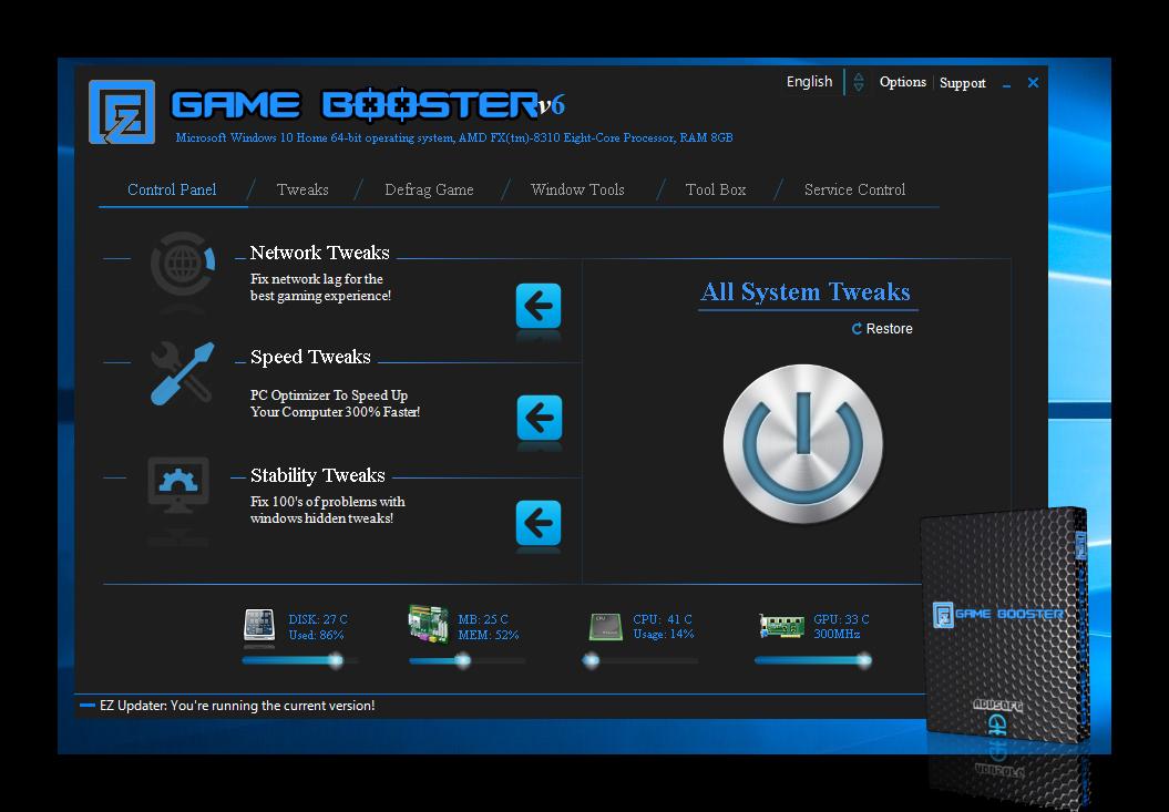 Descargar EZ Game Booster PRO un optimizador fantastico, LICENCIA LEGAL PRO - Gratis / Por tiempo limitado.